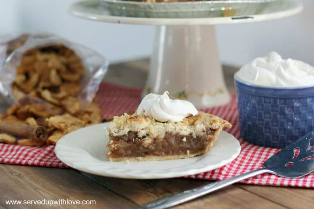Amish Butter Crumble Apple Schnitz Pie recipe