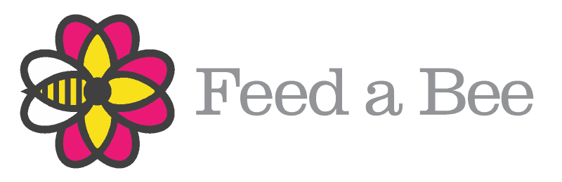 Feed a bee logo rectangle