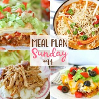 Easy Taco Braid at Meal Plan Sunday #94