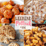 Crock Pot Hawaiian Meatballs at Weekend Potluck #356