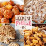 Crock Pot Hawaiian Meatballs ~ Weekend Potluck #356