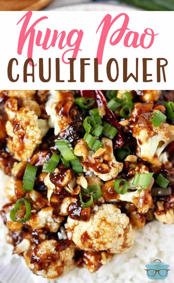 This vegetarian and low carb Kung Pao Cauliflower recipe starts with marinated cauliflower and then cooked in a homemade szechuan sauce.