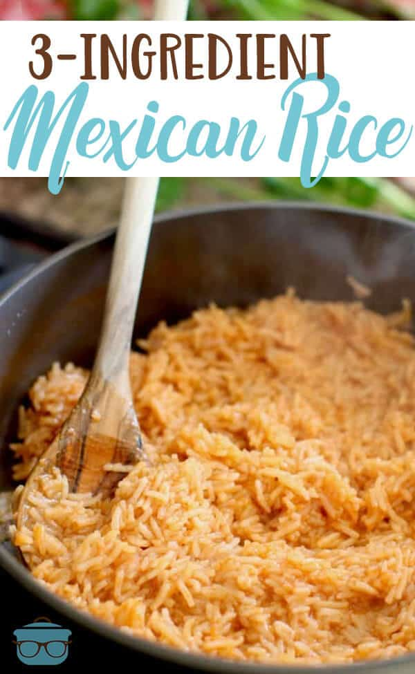 3-Ingredient Mexican Rice recipe from The Country Cook #sidedish #vegetarian
