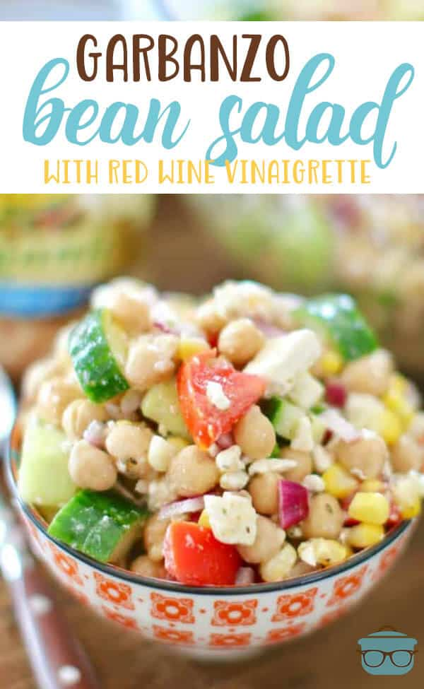Garbanzo Bean Salad with Red Wine Vinaigrette recipe from The Country Cook #vegetarian #healthy