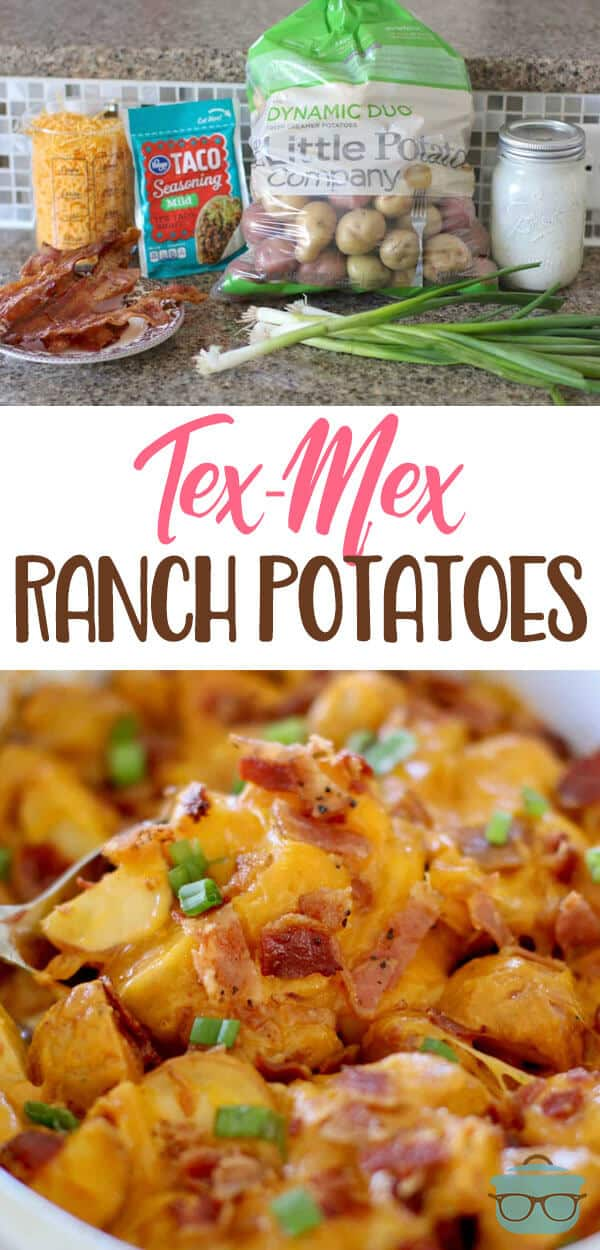 Tex Mex Ranch Potatoes recipe from The Country Cook #sidedish #bacon