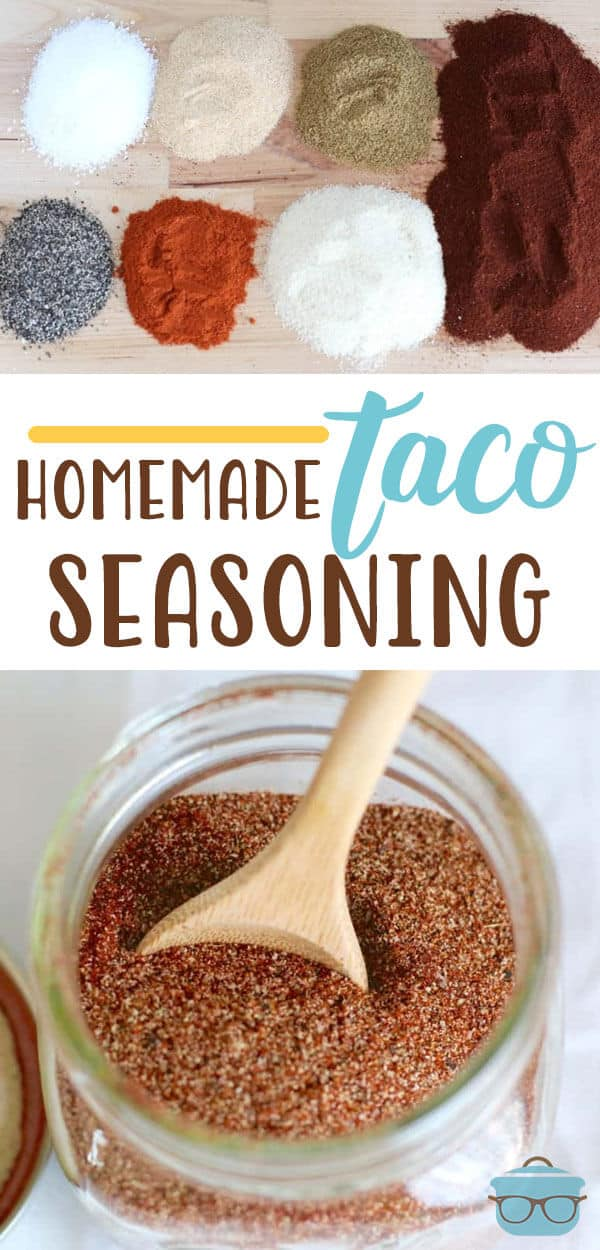 This Homemade Taco Seasoning recipe is the perfect balance of flavors. Control what goes into your food with this easy and delicious seasoning. #tacos #seasoning