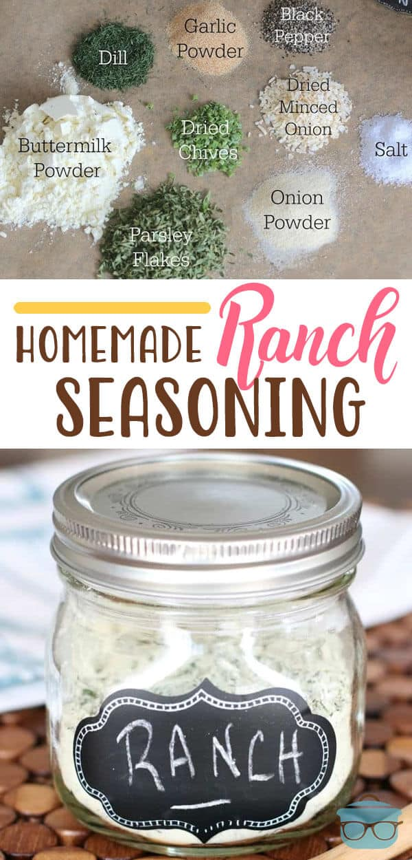 Easy Homemade Ranch Seasoning recipe from The Country Cook #dressing #seasoning