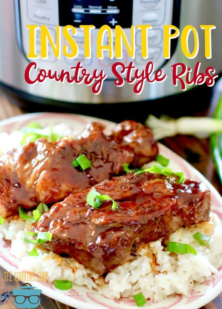 Instant Pot Korean BBQ Country Style Ribs recipe from The Country Cook