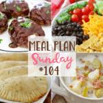 Crock Pot Chicken Lasagna at Meal Plan Sunday #104