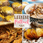 Onion Baked Potatoes in Foil ~ Weekend Potluck #359