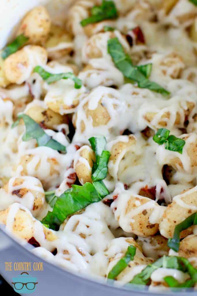 Easy Cheesy Italian Potatoes and Gnocchi