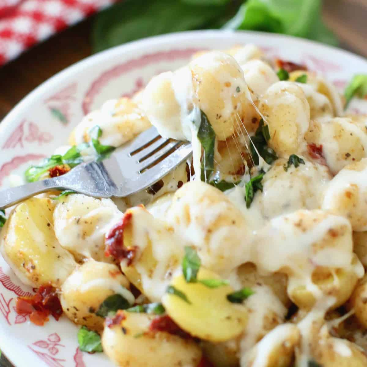 Cheesy Italian Potatoes and Gnocchi
