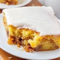 Easy Glazed Honey Bun Cake recipe