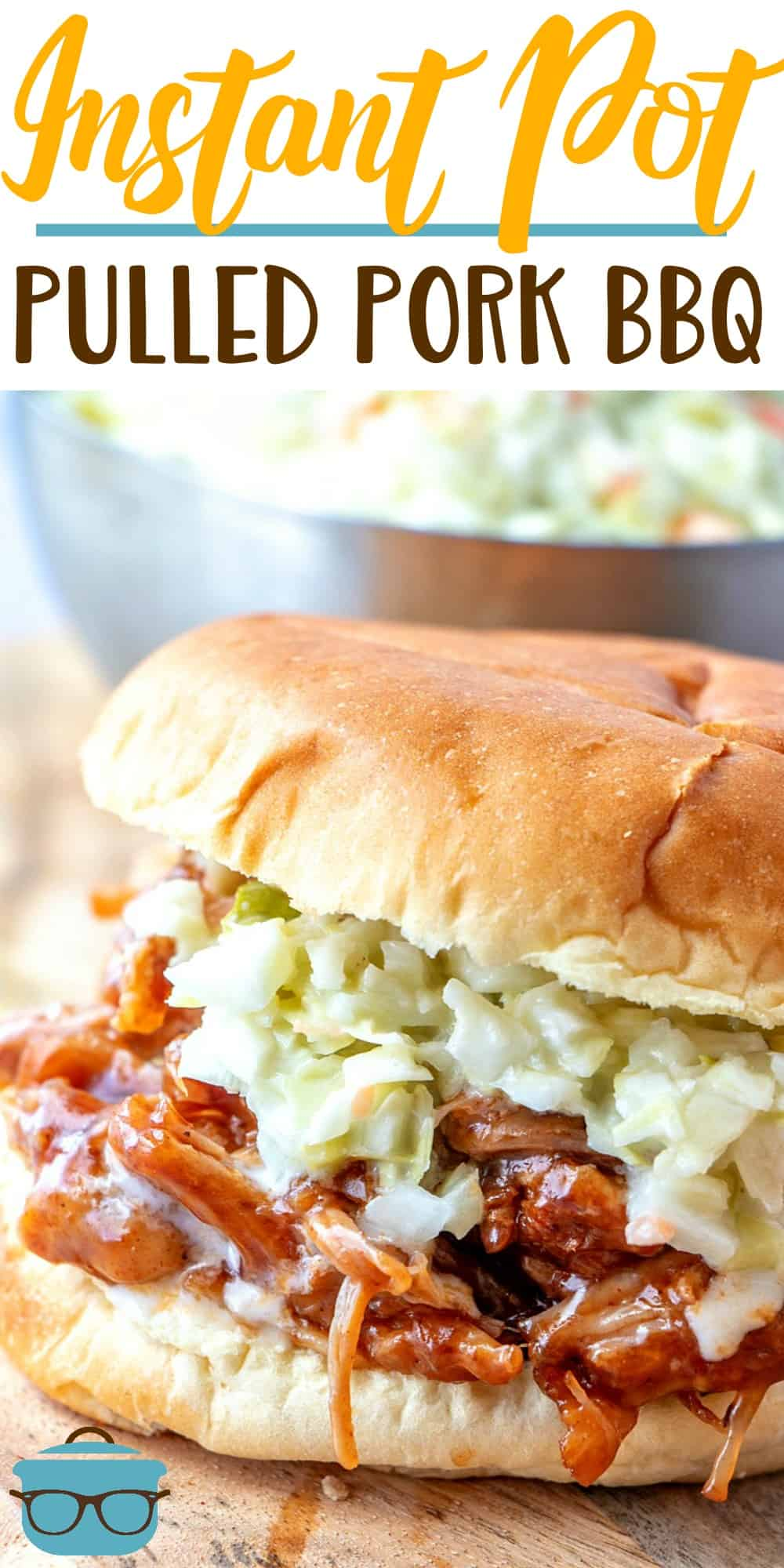 Instant Pot Pulled Pork BBQ starts with a delicious rub and comes out so tender! Make this easy pulled pork that is perfectly cooked in less than an hour! #InstantPot #pulledpork