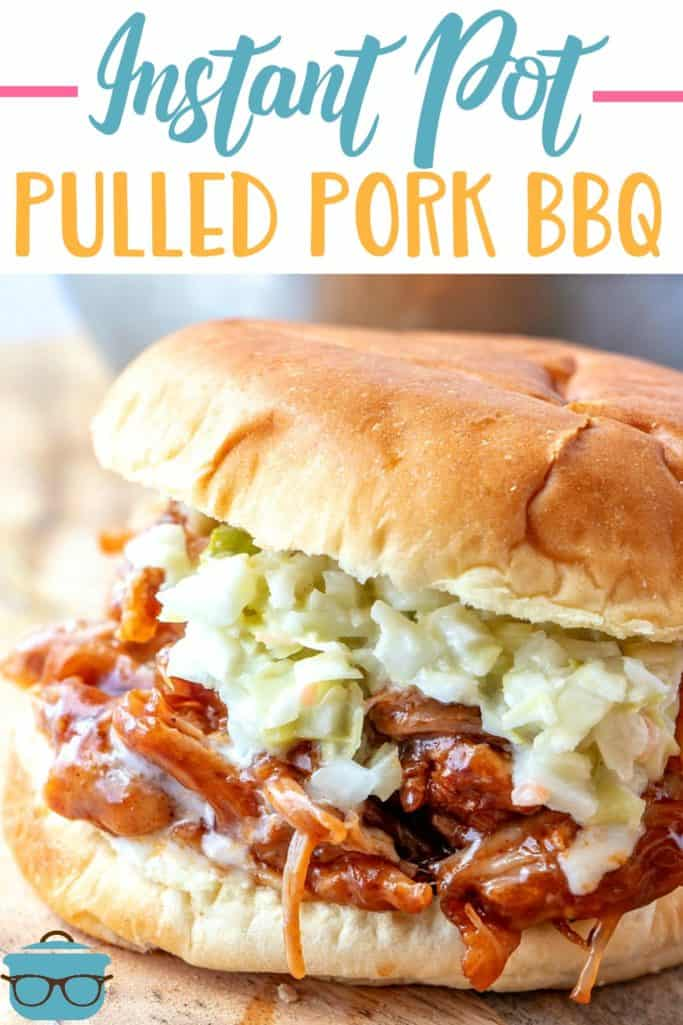 Instant Pot Pulled Pork BBQ recipe from The Country Cook