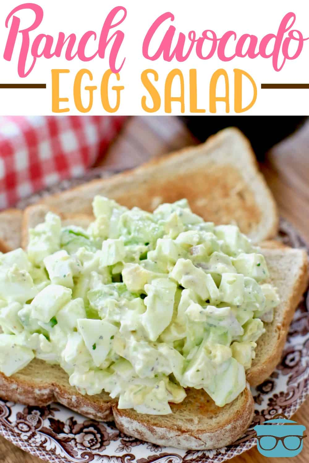 Ranch Avocado Egg Salad recipe is made with avocadoes, hardboiled eggs, shallot, ranch seasoning, mayonnaise. Low carb too! Serve as a wrap or sandwich! #avocadoeggsalad #brunch