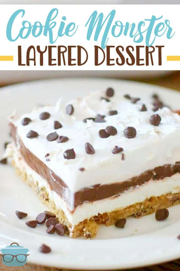 COOKIE MONSTER LAYERED DESSERT