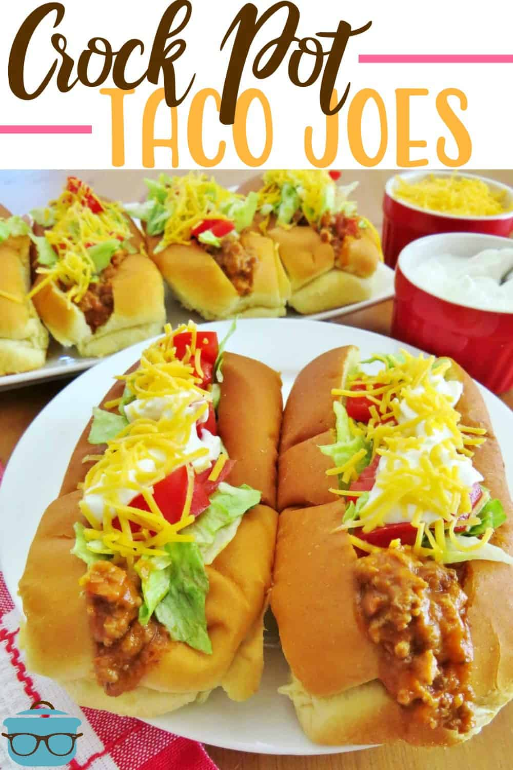Crock Pot Taco Joes are like sloppy joes with a taco twist. This filling is amazing in tacos and burritos or on tostadas. A huge family favorite! #crockpottacojoes #dinner