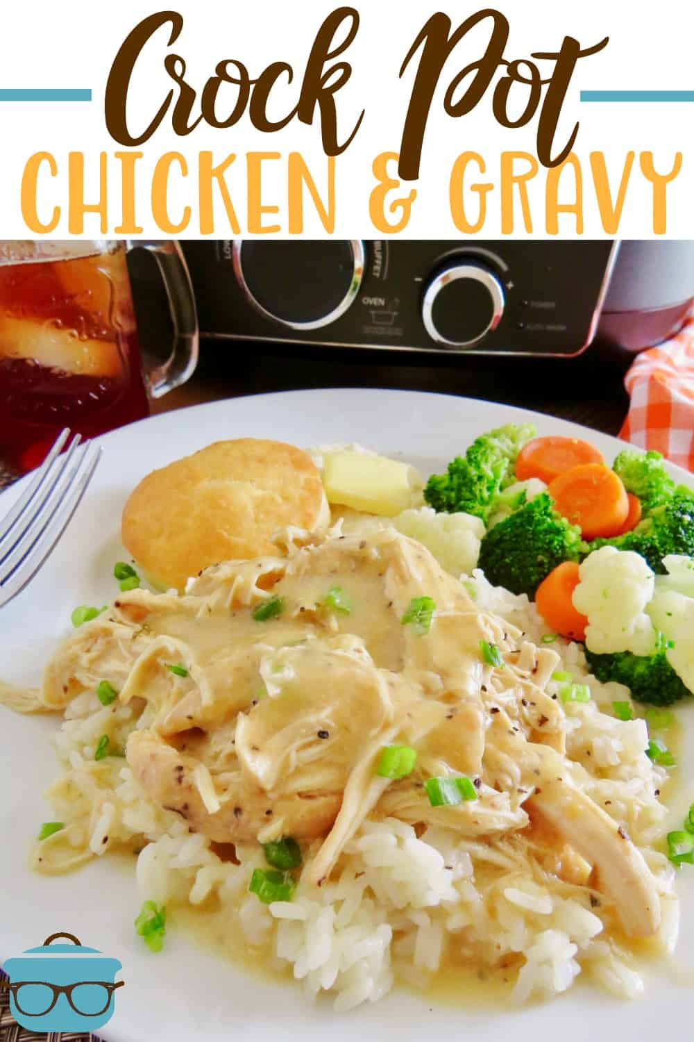 This recipe for Crock Pot Chicken and Gravy is a family favorite. Chicken, gravy mix, cream of chicken, sour cream and seasoning. Delicious and creamy!