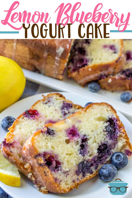 Lemon Blueberry Yogurt Cake is a moist, made-from-scratch lemon cake with fresh blueberries, lemon juice, simple syrup and a lemon glaze!