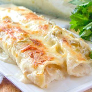 Creamy White Chicken Enchiladas recipe