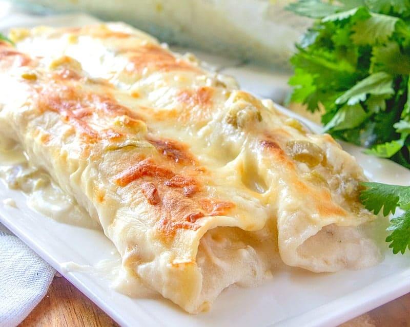 Easy Creamy White Chicken Enchiladas The Country Cook
