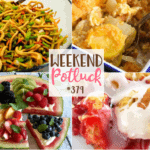 Featured recipes from Weekend Potluck: Asian Broccoli Slaw, Watermelon Pizza, Exceptional Squash Casserole and Easy Cherry Danish Cake