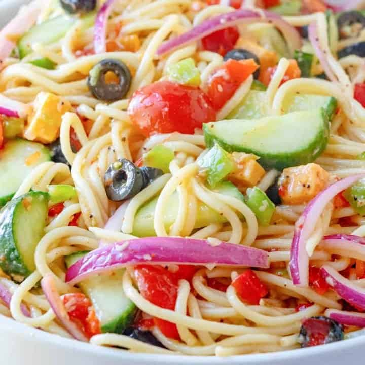 Summer Spaghetti Salad recipe from The Country Cook