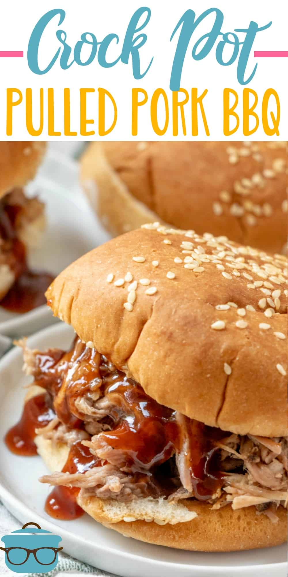 Crock Pot Pulled Pork uses a special rub and soda to make it come out super tender and flavorful! Delicious in sandwiches and topped with cole slaw! #pulledpork #crockpotrecipe