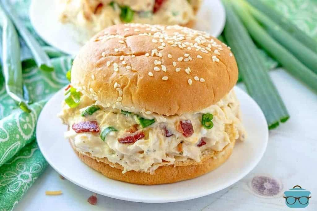 Instant Pot Crack Chicken on a bun