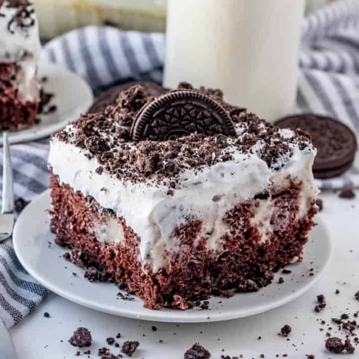 Oreo Pudding Poke Cake recipe from The Country Cook