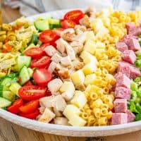 Italian Chopped Salad recipe with Homemade Italian Dressing