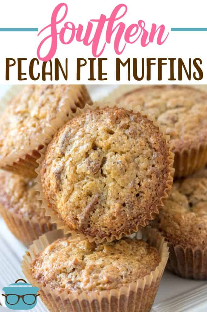 Southern Pecan Pie Muffins recipe from The Country Cook