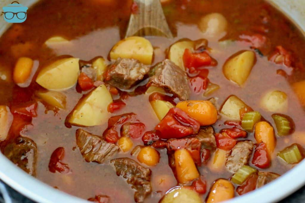 finished, pressure cooker beef stew