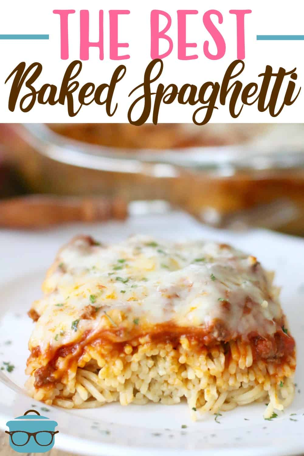 The Best Baked Spaghetti also known as Spasagna is inspired by the meal at Cheddar's. Alfredo spaghetti topped with meat sauce and cheese! #bakedspaghetti #easydinenr