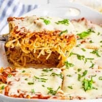 The Best Baked Spaghetti (Spasagna) recipe from The Country Cook