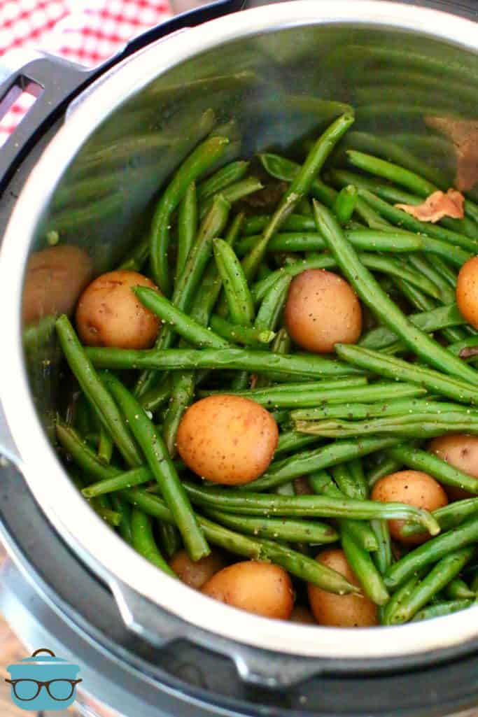 Electric Pressure Cooker Bacon Green Beans and Potatoes