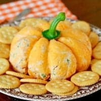 Pumpkin Shaped Cheeseball recipe