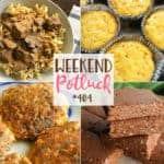 Featured recipes: Low-Carb Salmon Patties, Peanut Butter and Chocolate Krispies Bars, Corn Pudding Muffins and Slow Cooker Beef Stroganoff!