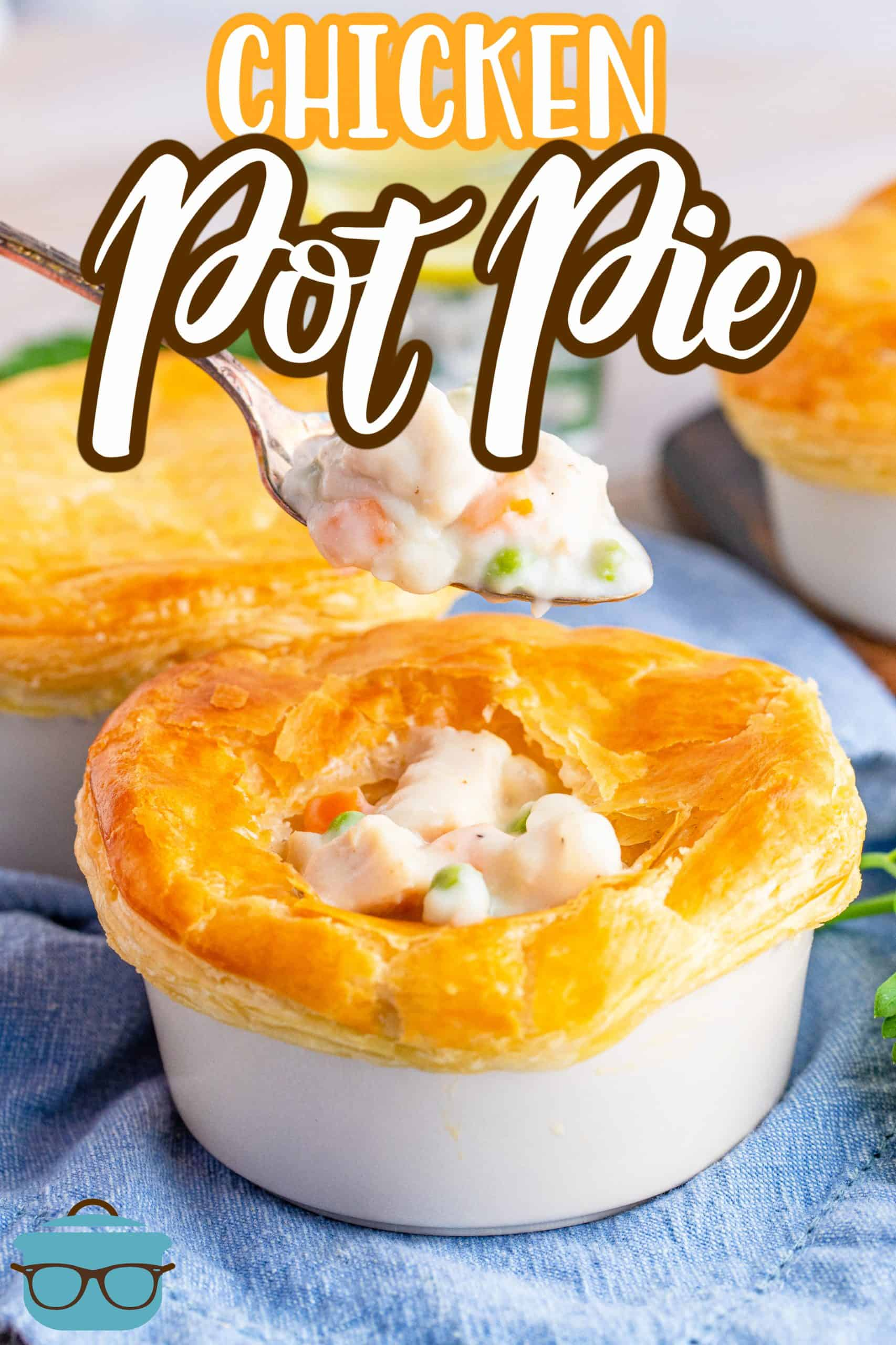 Homemade Chicken Pot Pie has the most delicious, thick, creamy filling with an easy puff pastry crust. Individual ramekins make for easy serving.