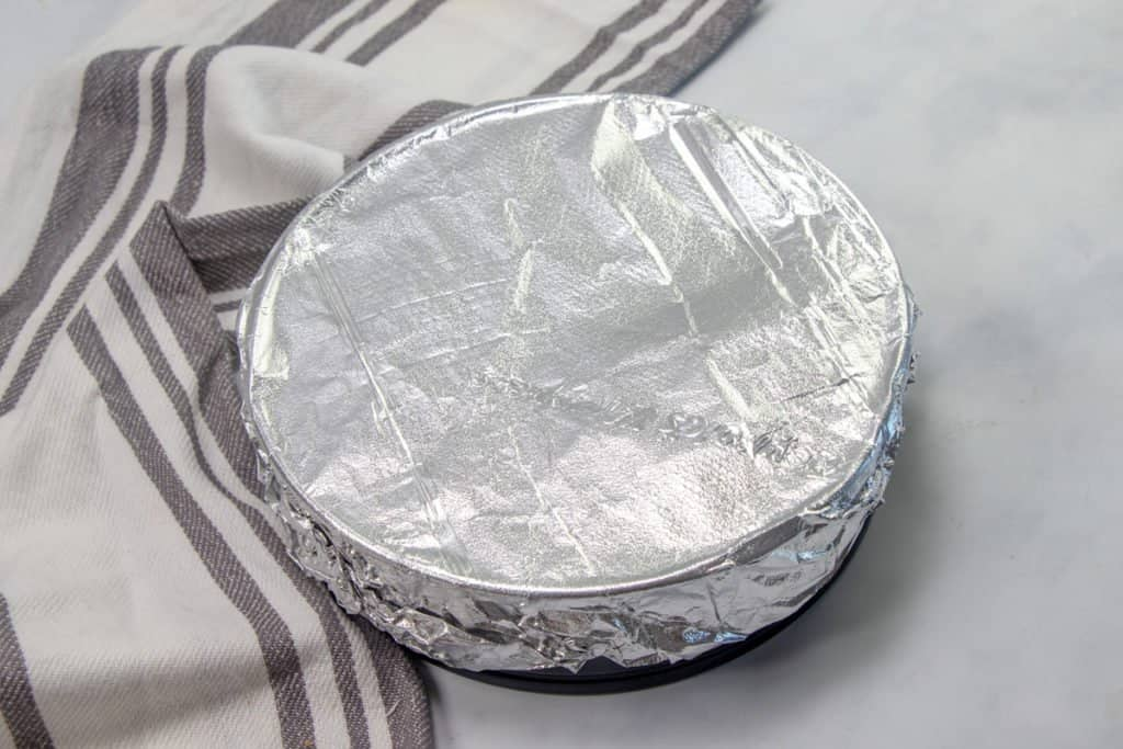 aluminum foil covered springform pan