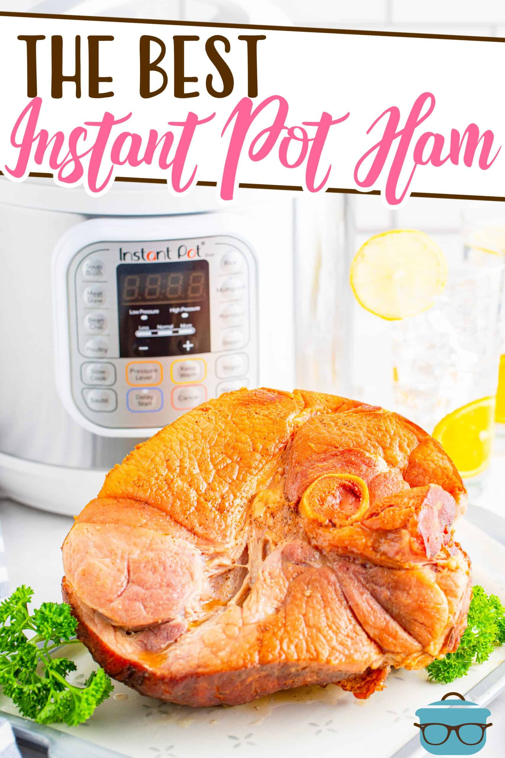 Instant Pot Bone-In Ham is an easy, moist, flavorful recipe. All that is needed is ham, brown sugar, pineapple juice and ground cloves. #instantpot #wholeham