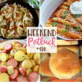 Featured recipes include: Heavenly Rolls, Skinny Chicken Enchiladas, Southern Fried Cabbage, All-In-One Air Fryer Potatoes & Sausage Meal
