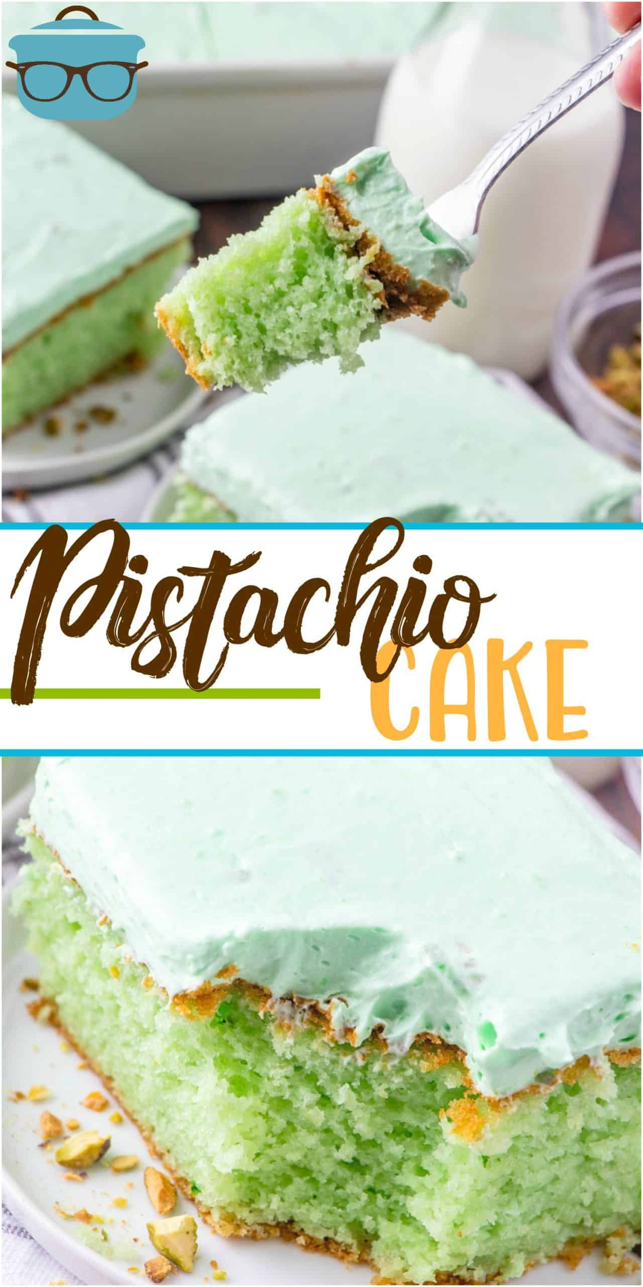 This easy Pistachio Cake recipe starts with a boxed cake mix and it is transformed into a super yummy cake that tastes homemade!