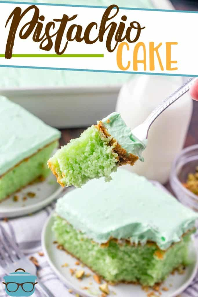 Easy Green Pistachio Cake recipe from The Country Cook