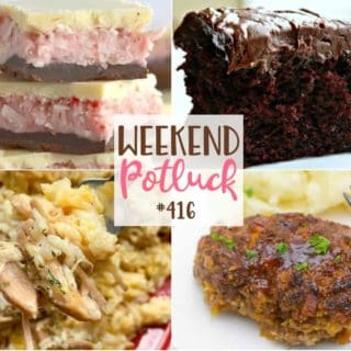 Slow Cooker Pork Chops and Rice, Air Fryer Loaded Mini Meatloaves, Strawberry Coconut Chocolate Bars and Chocolate Crazy Cake