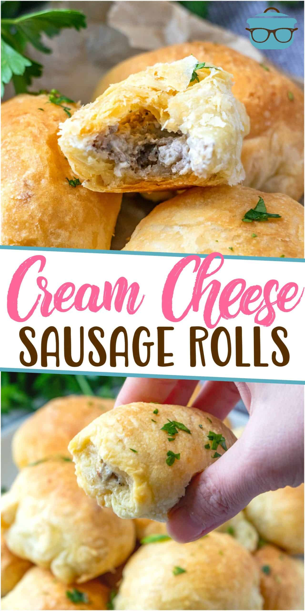 These 3-Ingredient PuffPastry Sausage Rolls are the perfect little appetizer. Puff pastry, pork sausage and cream cheese are all that's needed!