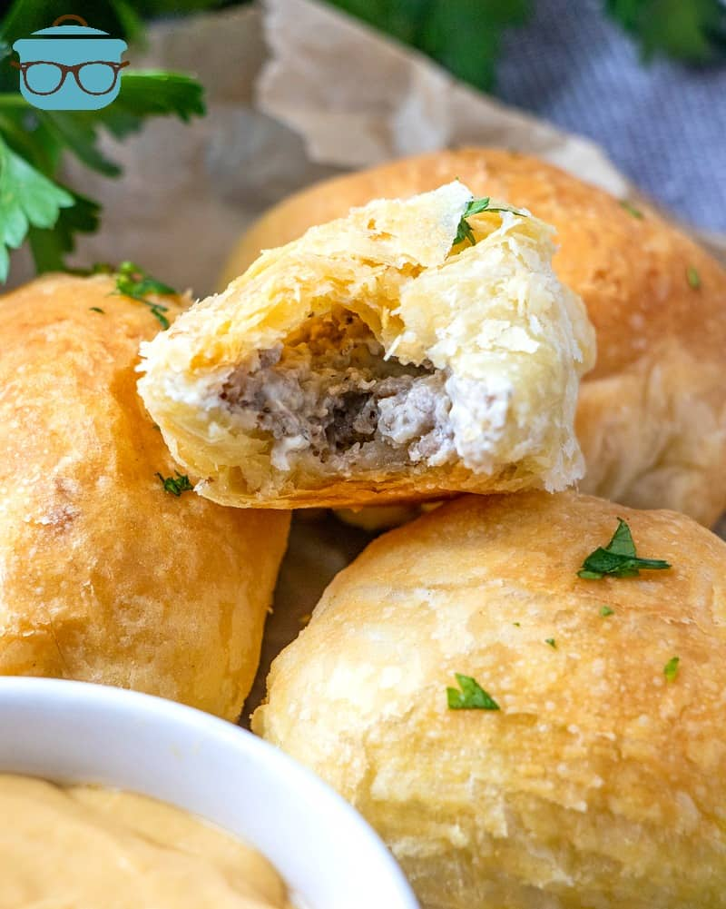 Puff Pastry Cream Cheese Sausage Rolls, stacked