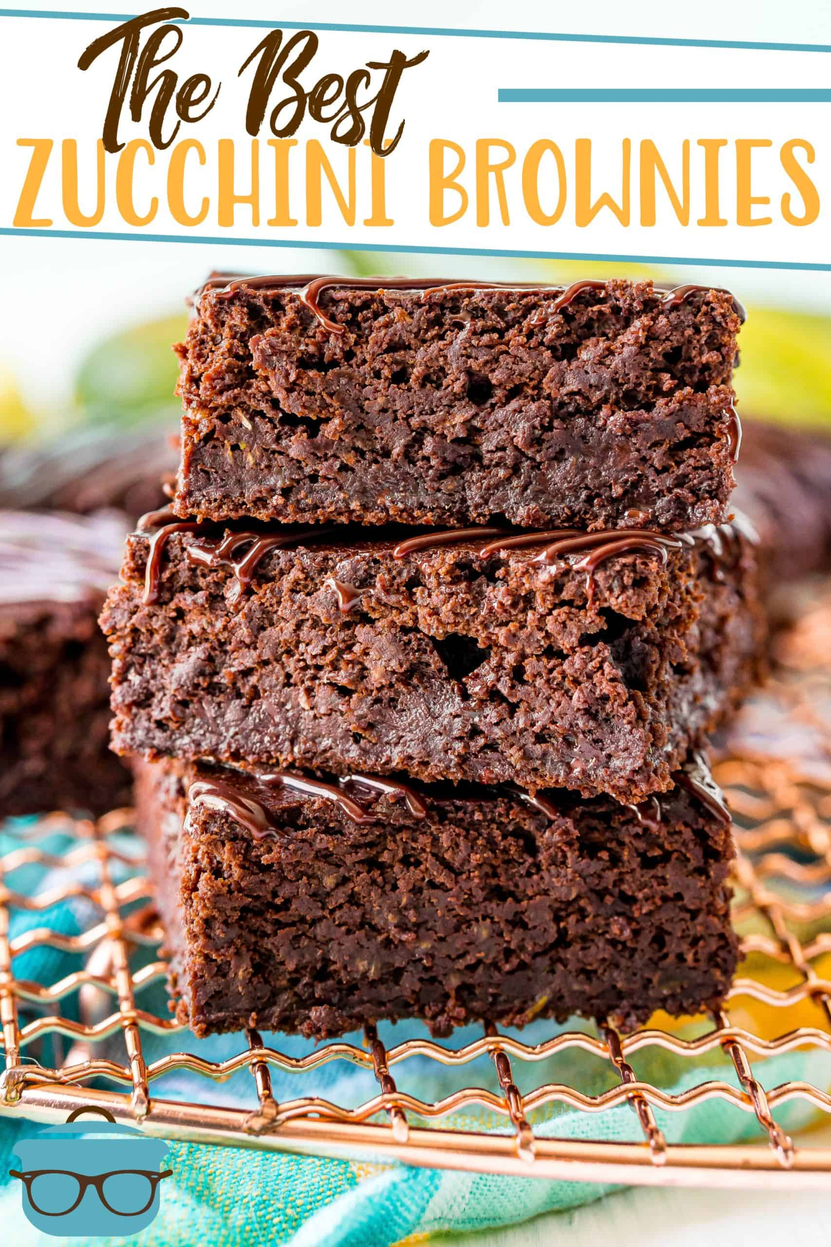 This delicious chocolate fudge zucchini brownie recipe is not only simple to make but it is dairy-free and can easily be made gluten-free!