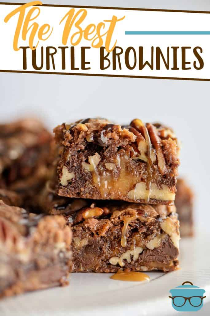 The Best Turtle Brownies recipe from The Country Cook